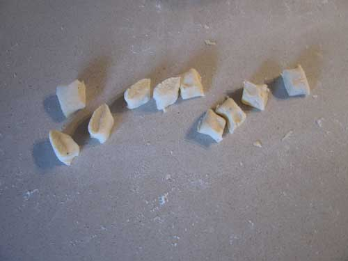 Cut the gnocchi