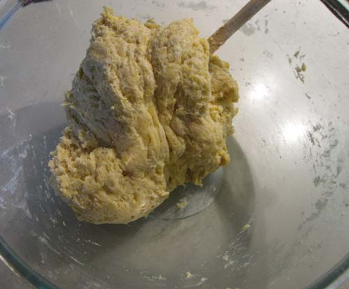 The resulting dough mixture