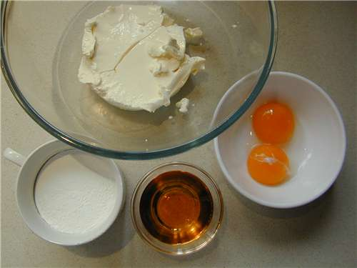 The mascarpone cream ingredients
