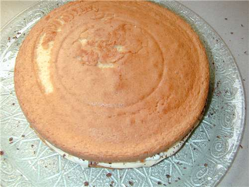 Place the second half of the sponge cake on top